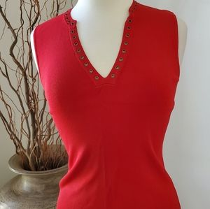 NWOT Cable And Guage Grommet V-neck  Top